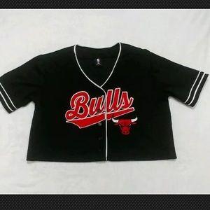 NBA Chicago bulls crop top jersey Large basketball